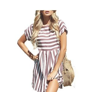 JOANNA Striped  Dress